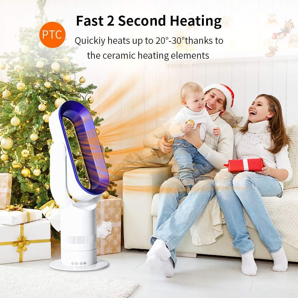 Acoolir Ventilador sin Aspas Silencioso de Viento Natural Saludable de Circulaci/ó 10 Velocidades Oscilaci/ón de 90/° Temporizador de Sue/ño Inteligente Control Remoto de 6 m Seguro para Ni/ños Silencio