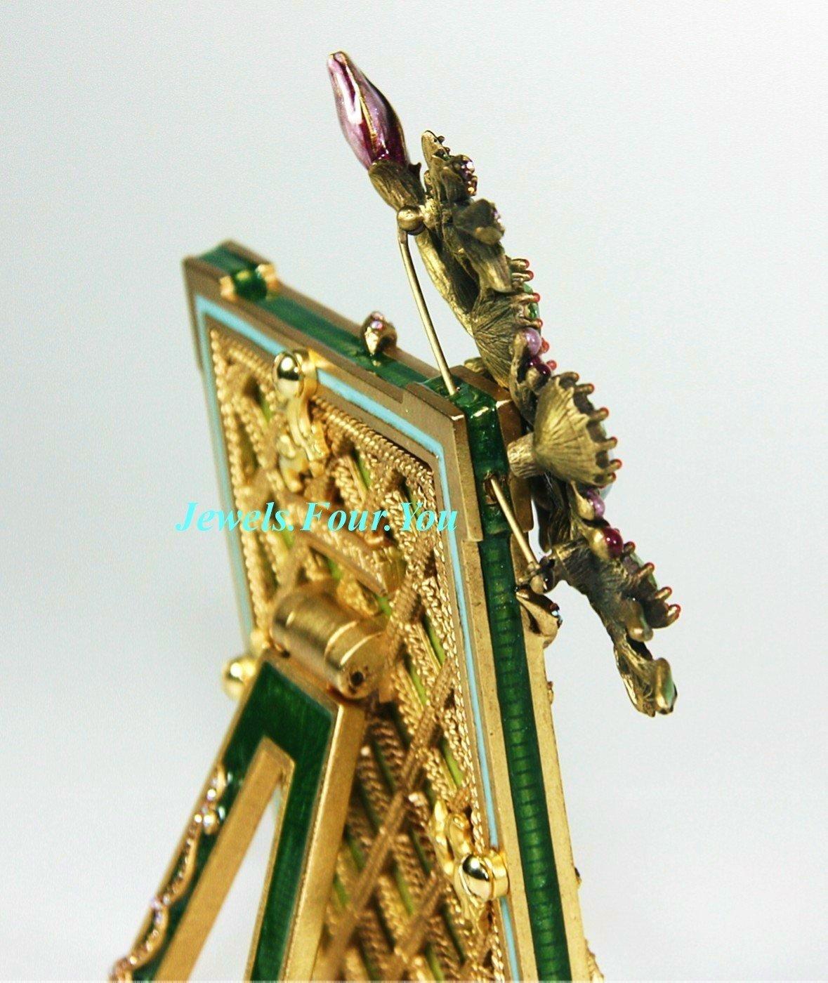 Jay strongwater der Blüte Rahmen und abnehmbare grün Brosche Bronze ...