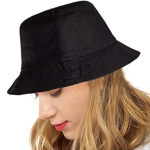 952fc283cb LADYBRO Women Hats for Men Hat - Black Bucket Hat Men Camping Fisherman Hat  Caps for