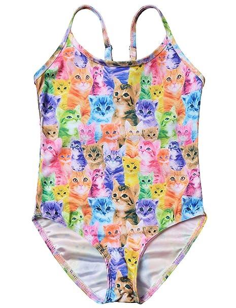 a0df3f5cf0 Amazon.com: Girls Unicorn Swimsuits One Piece Swimwear Bathing Suits ...
