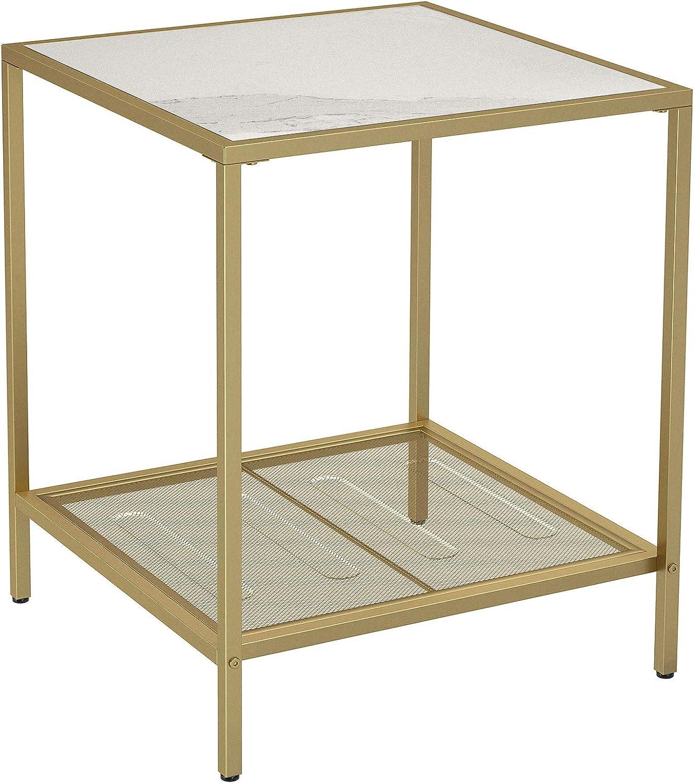 mesas de noche doradas