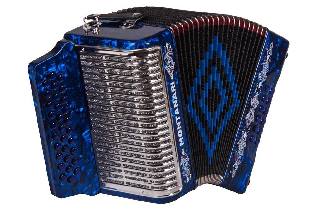 Montanari 3112 G Acordeon FA Azul Accordion FBE by Montanari