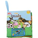 Kids Farm Animals Theme Cloth Book with Bright Color Pictures Toddler Baby Learning Toys