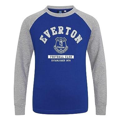 0ca13edc Everton FC Official Football Gift Kids Crest Long Sleeve Raglan T-Shirt:  Amazon.co.uk: Clothing