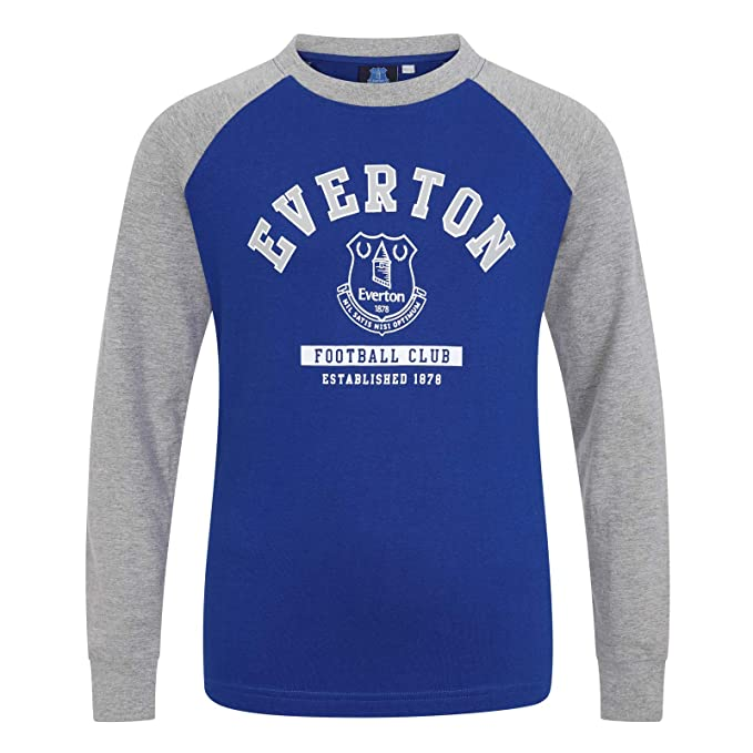 Everton FC Camiseta Oficial con Mangas Raglán - Para Niños - con el Escudo del Club: Amazon.es: Ropa y accesorios