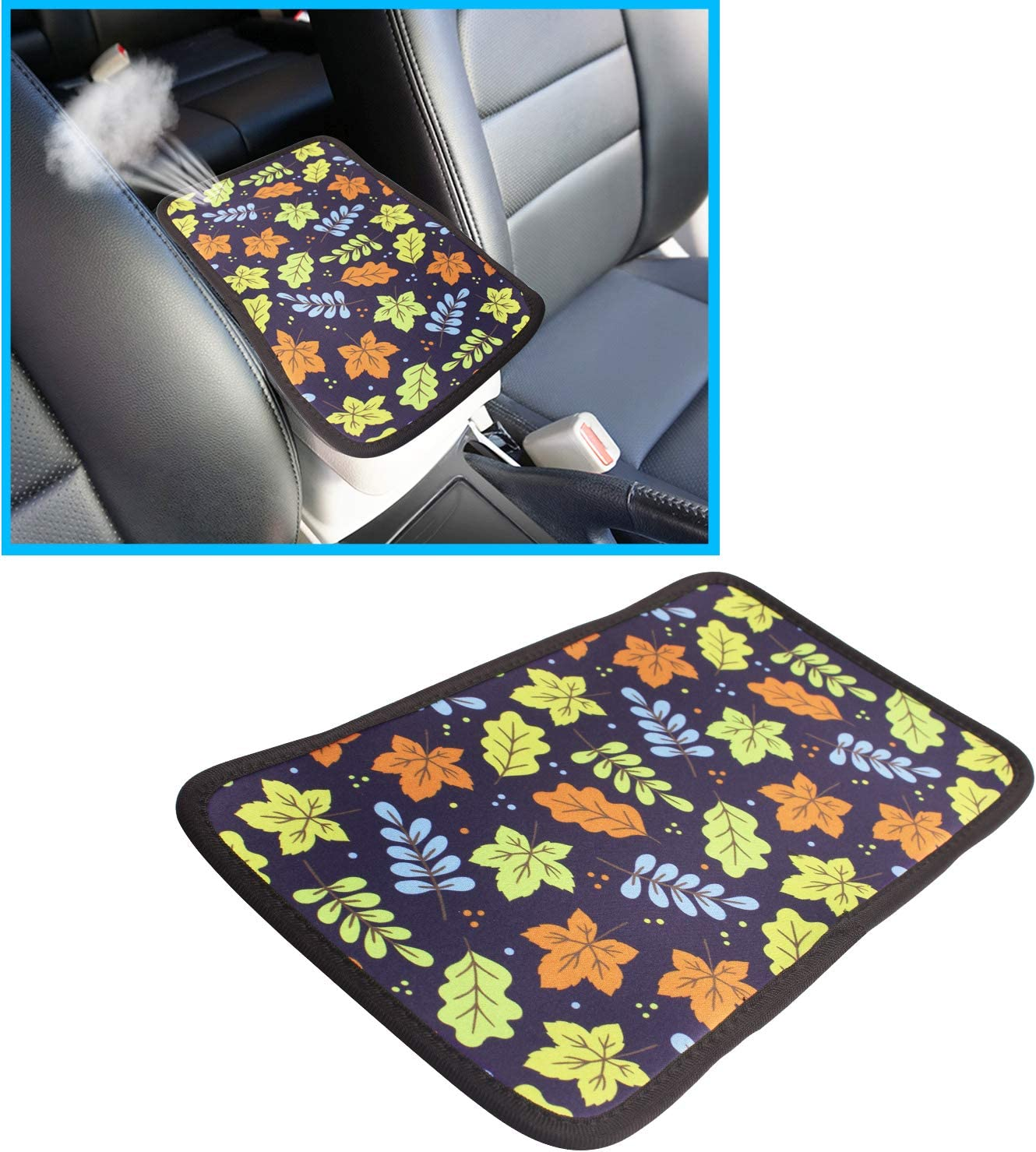 Truck Car Accessories SUV Pattern 2 Universal Car Armrest Cover Fit for Most Vehicle Monrand Center Console Armrest Pad