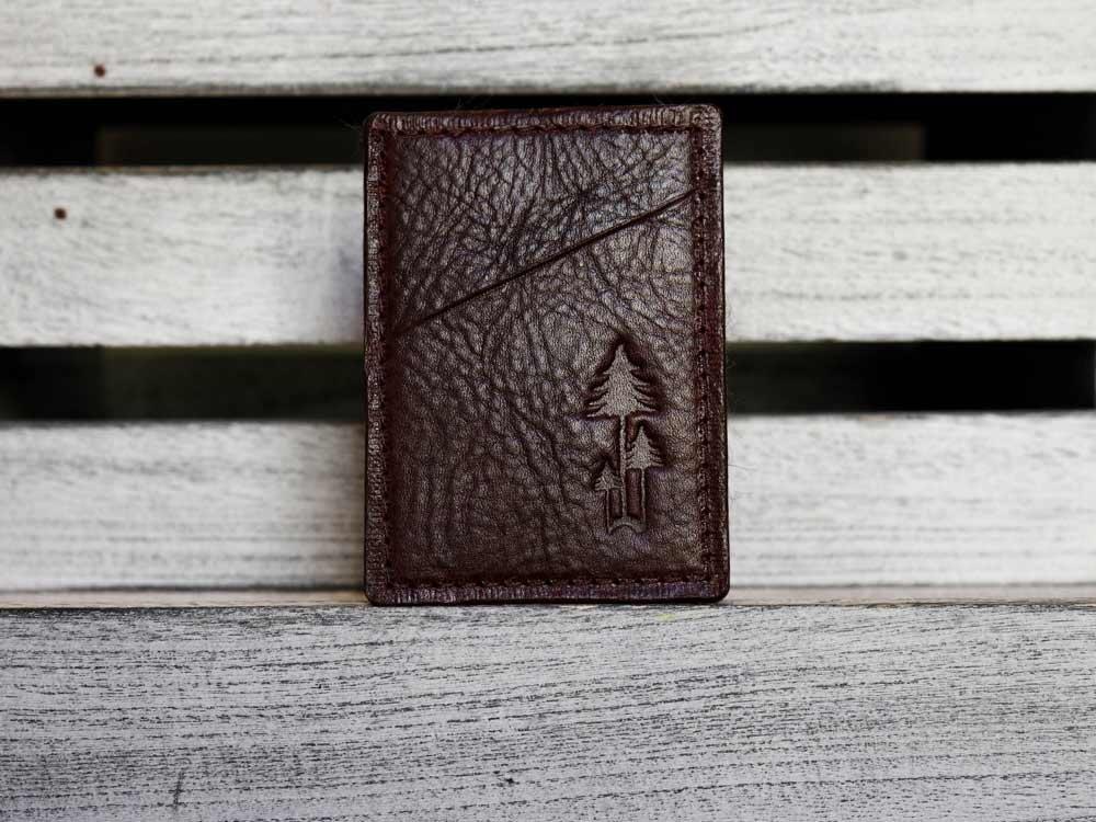 The MIST minimalist wallet / rich full-grain, veg-tan leather / slim vertical wallet