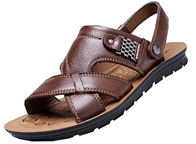 Men flip flops NEW new fashion sandals men shoes sandalias hombre men shoes sandals Brown 7