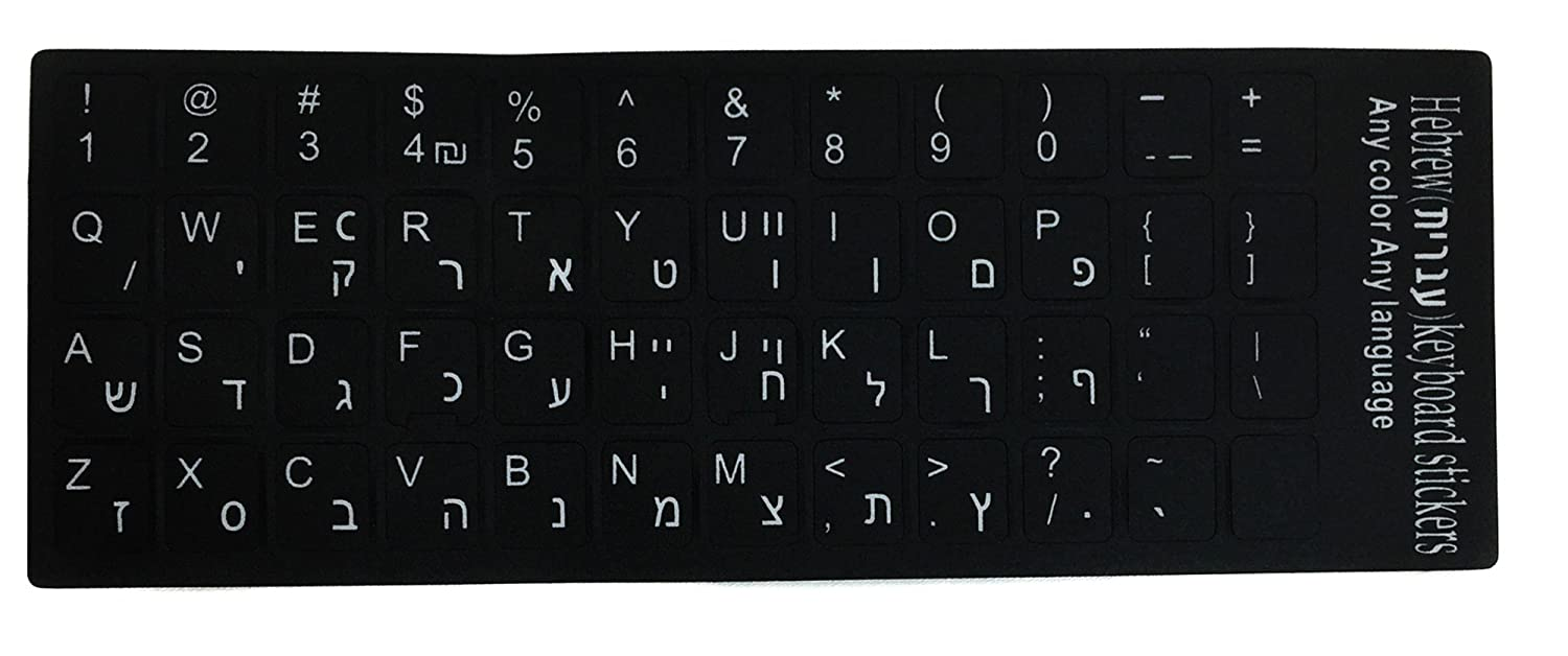 Korean Transparent Stickers with Black Letters for LAPTOPS Desktop Computers Keyboards
