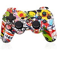 OUBANG PS3 Controller Wireless Dualshock3 PS3 Remote,Best DS3 Joystick Gift for kids Bluetooth Gaming Sixaxis Control Gamepad Heavy-duty Game Accessories for PlayStation3 with micro cable (Graffiti)