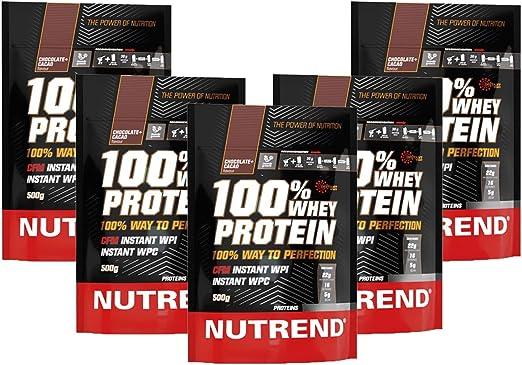 De proteína de suero Nutrend 100% Chocolate & Cocoa por Nutrend 500g espectro perfecto de aminoácidos con alto valor biológico en este producto de ...