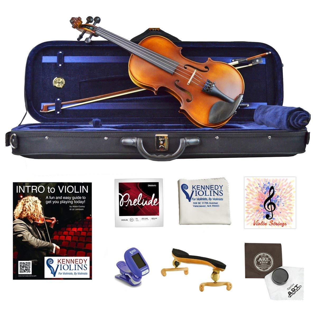 Ricard Bunnel G1 Clearance Student Violin Outfit (4/4) RB560 by Kennedy Violins