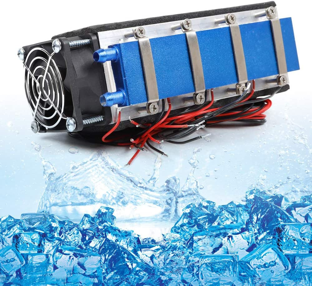 WUPYI DIY Thermoelectric Cooler Refrigeration Air Cooling Device 8-Chip TEC1-12706A,110V 576W Thermoelectric Peltier Refrigeration
