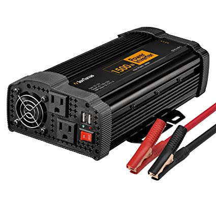JoyTutus 1500W Power Inverter DC 12V to AC 110V with Dual AC Outputs Dual  USB Charger Power Inverter for Car RV Marine Outdoors