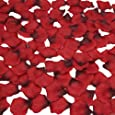 obmwang 2000 PCS Dark Silk Rose Petals Wedding Flower Decoration Artificial Red Rose Flower Petals for Wedding Party Favors Decoration and Vase Home Decor Wedding Bridal Decoration. Red