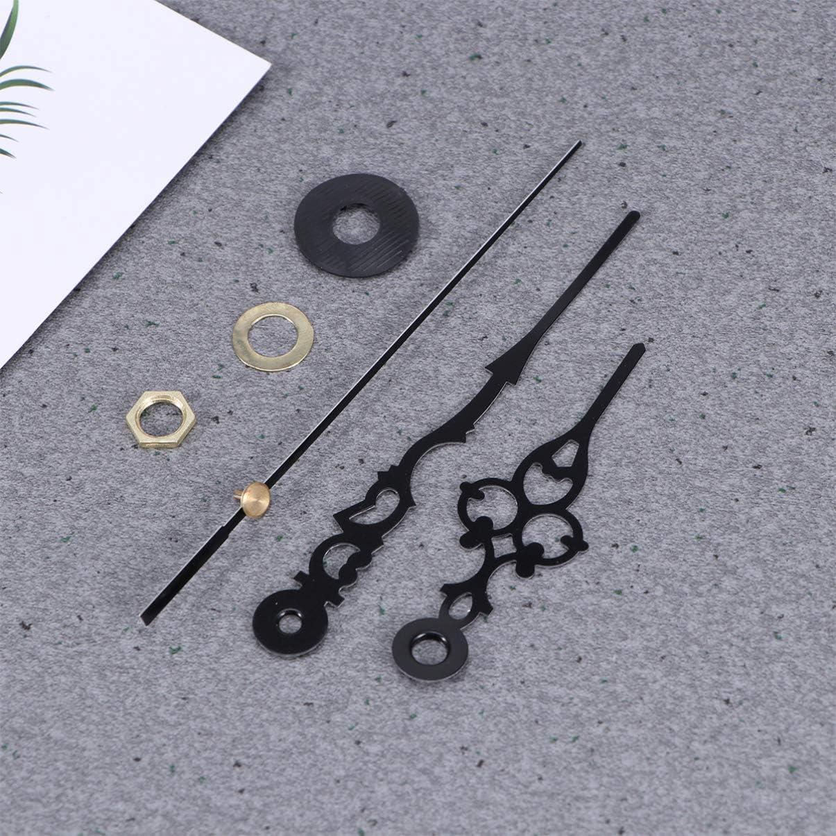 Doitool M/écanisme dhorloge silencieux /à quartz avec 3 aiguilles Noir Sans pile