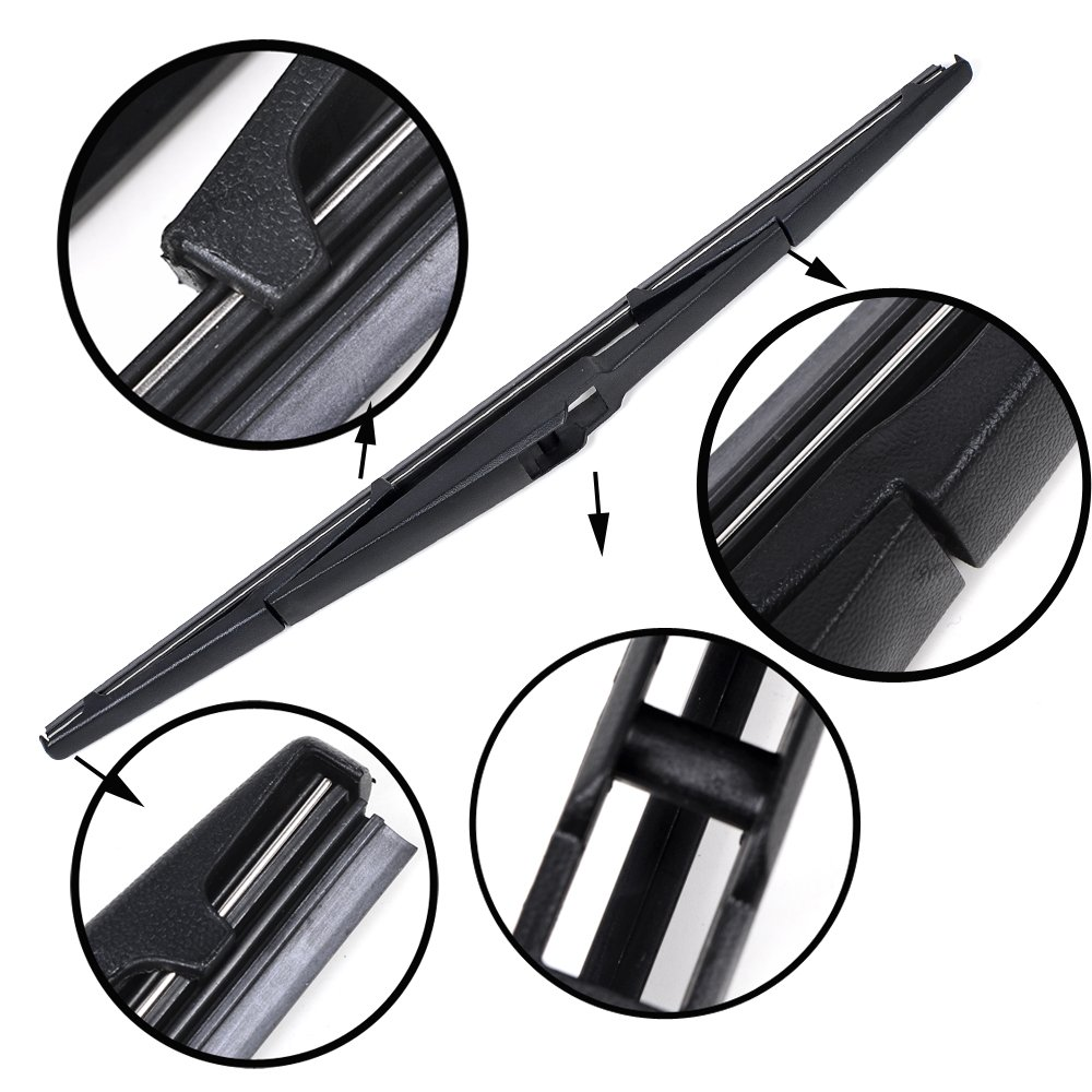 Car Windshield Window Rear Wiper Arm Blade Kit Compatible with LEXUS RX300 RX330 RX350 RX400h