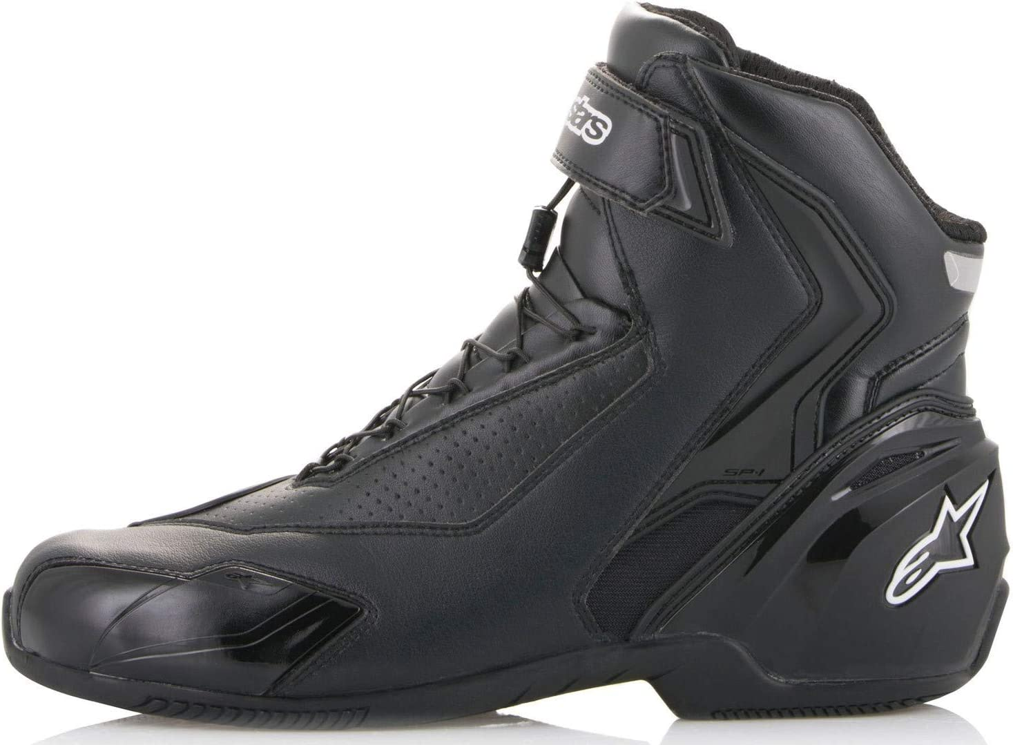 39 Black Alpinestars Motorcycle Boots Sektor Waterproof Shoe Black