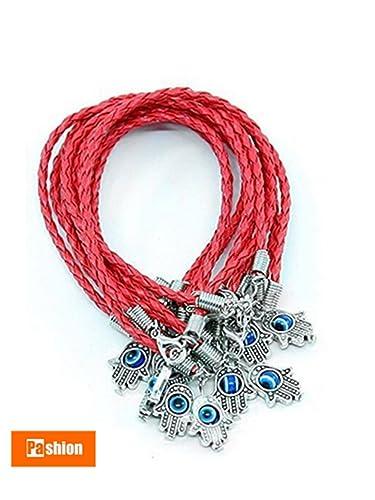 Wondrous Amazon Com 10Pcs Luckyhamsa Red String Kabbalah Bracelets With Wiring Cloud Funidienstapotheekhoekschewaardnl