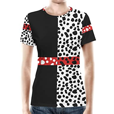 f8df64400ec7 Cruella de Vil Disney Villains Inspired Women Sport Mesh T-Shirt - 2XL   Amazon.co.uk  Clothing