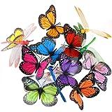 Austor, decorazioni da giardino a forma di farfalle e libellule su bastoni, decorazioni per feste, confezione da 26 pezzi