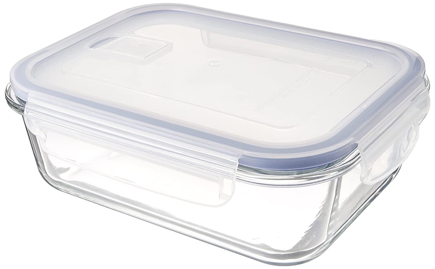 B4001-2 Uniware Heat Resistant Premium Glass Food Container with Snap-Lock Lid(Rectangle) (35 OZ)