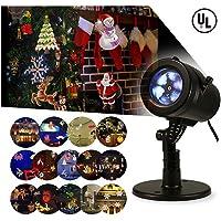 Bjour Halloween Christmas Light Projector Outdoor Indoor Decorations Waterproof