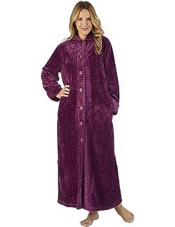 Slenderella HC2332 Women s Waffle Flannel Robe Loungewear Bath Dressing Gown 0b64671d7
