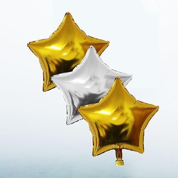 BELLE VOUS Globos Fiesta Cumpleaños Suministros y Decoración Set 26 Piezas - Globo Grande Aluminio de 30,5cm 21 Años - Globo de Látex Dorado y Plateado: ...