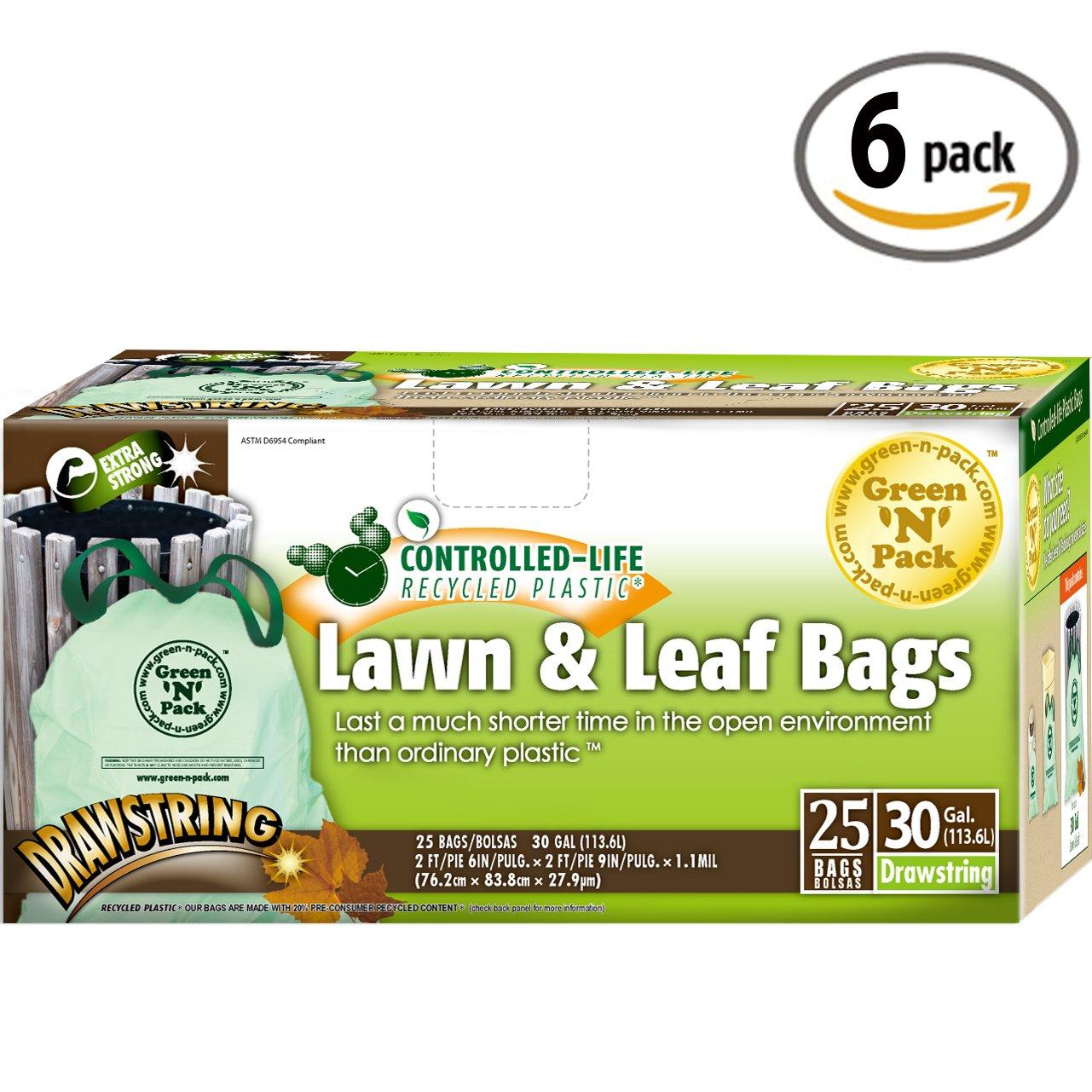 Green N Pack 30 Gallon Drawstring Large Trash Bags by Green 'N' Pack