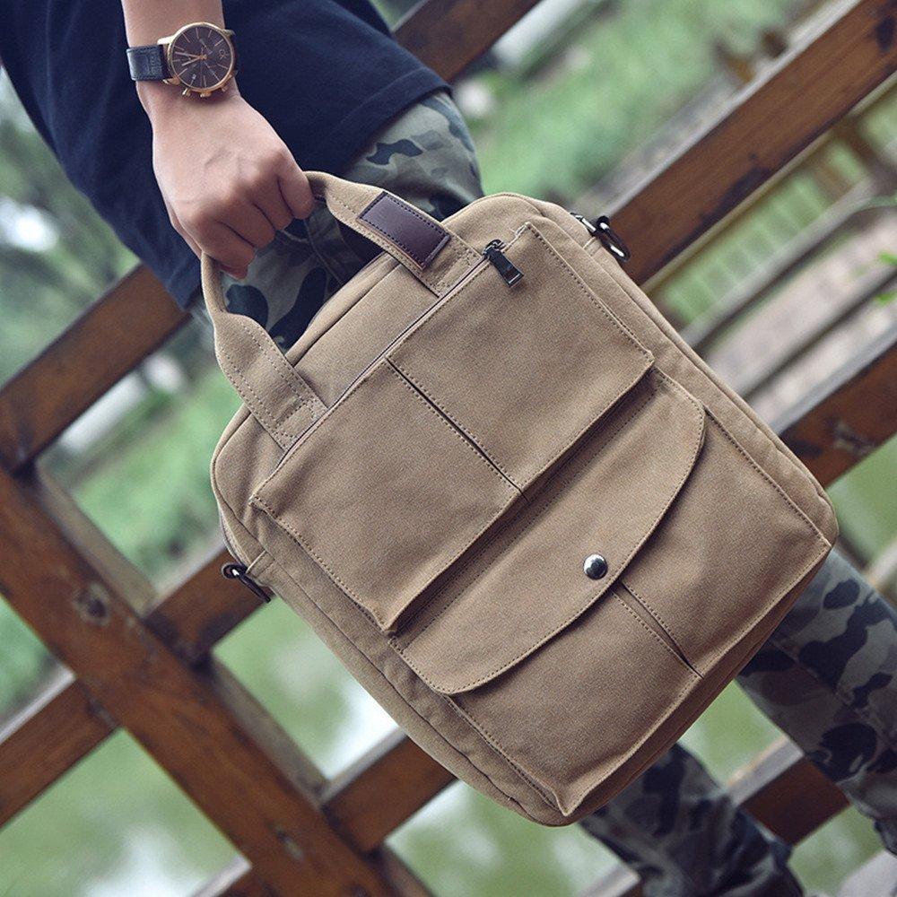 LWH) Mens Shoulder Messenger Bag Casual Waterproof Canvas Handbag Weekend Sports 11.023.9312.99 inch