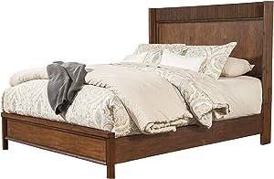 Alpine Furniture Panel Bed, California King, Burgandy