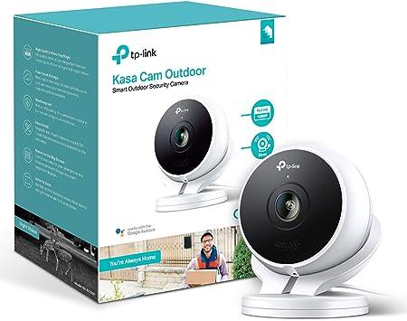 TP-Link Cámara Smart Security al Aire Libre, Resistente a la Intemperie, sin concentrador Obligatorio, Funciona con Alexa (Echo Punto/Mostrar y TV Fuego), Google Home Hub y IFTT: Amazon.es: Electrónica