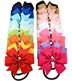 Cuhair(tm) 10pcs Children Ribbon Bow Elastic Hair Bands tie rubber Rope Ponytail Holder Kids fabric flowers kid women children Girls Hair Accessories Scrunchie (10pcs)
