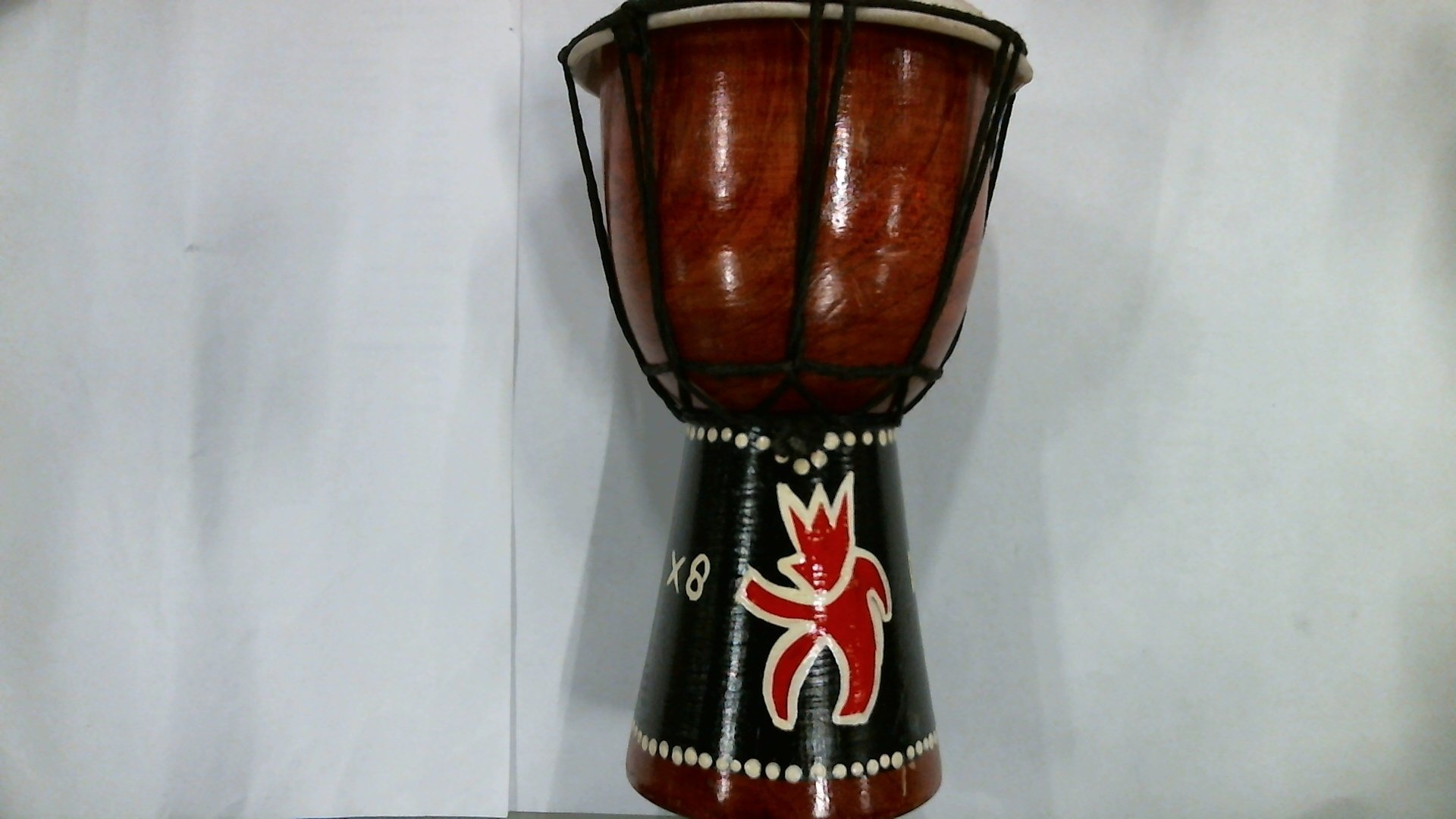 X8 Drums MINI-X8 Mini Djembe Drum with X8 Drums Logo