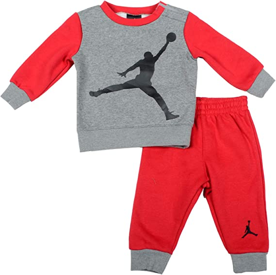 O neanche capelli Caroline  Nike Air Jordan Jumpman Collection Baby 2-Piece Tracksuit Grey/Red 3-6  Months: Amazon.co.uk: Clothing