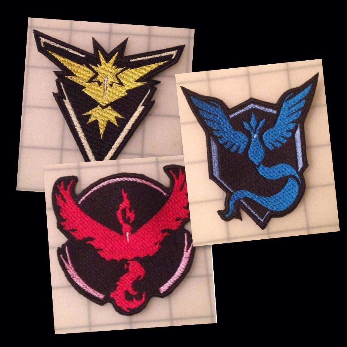 Embroidered Pokemon Go Team Mystic Valor Instinct Badge Logo Patch