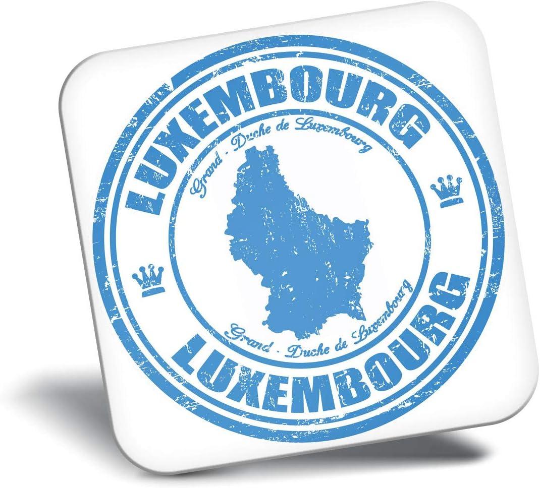 Luxemburgo Europa Viajes Mapa del Regalo Fresco # 4442 Destination Vinyl ltd Impresionante Iman