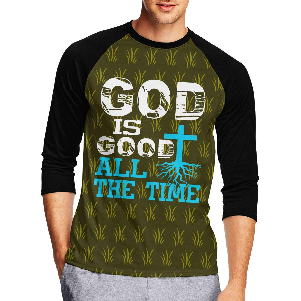 362f24ae50 DFGHJZH-L God is Good All The Time Christian Men's Cool Adult Long-Sleeved T -Shirts   Amazon.com