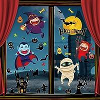 Tuopuda Halloween venster klampt herbruikbare stickers sticker cartoon Halloween griezelige stickers pompoen vleermuis…