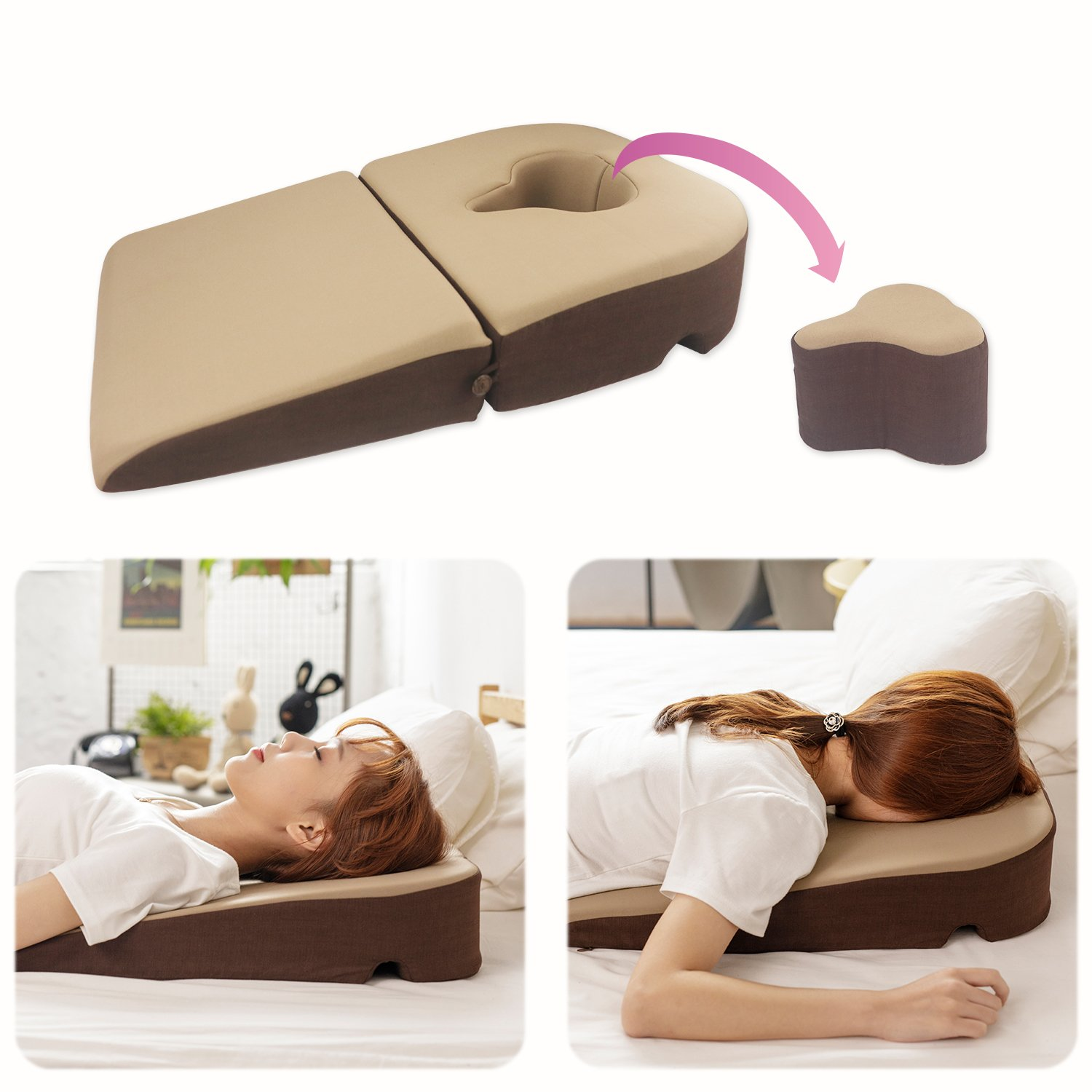 Prodigy TW Face Down Pillow, for Post-Eye-Surgery use,Wedge Cushion, Removable Cover by Prodigy TW (Image #1)