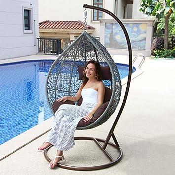 Amazon.de: Outdoor Rattan Ei Swing Stuhl, Insel Gale Garden Nest ...