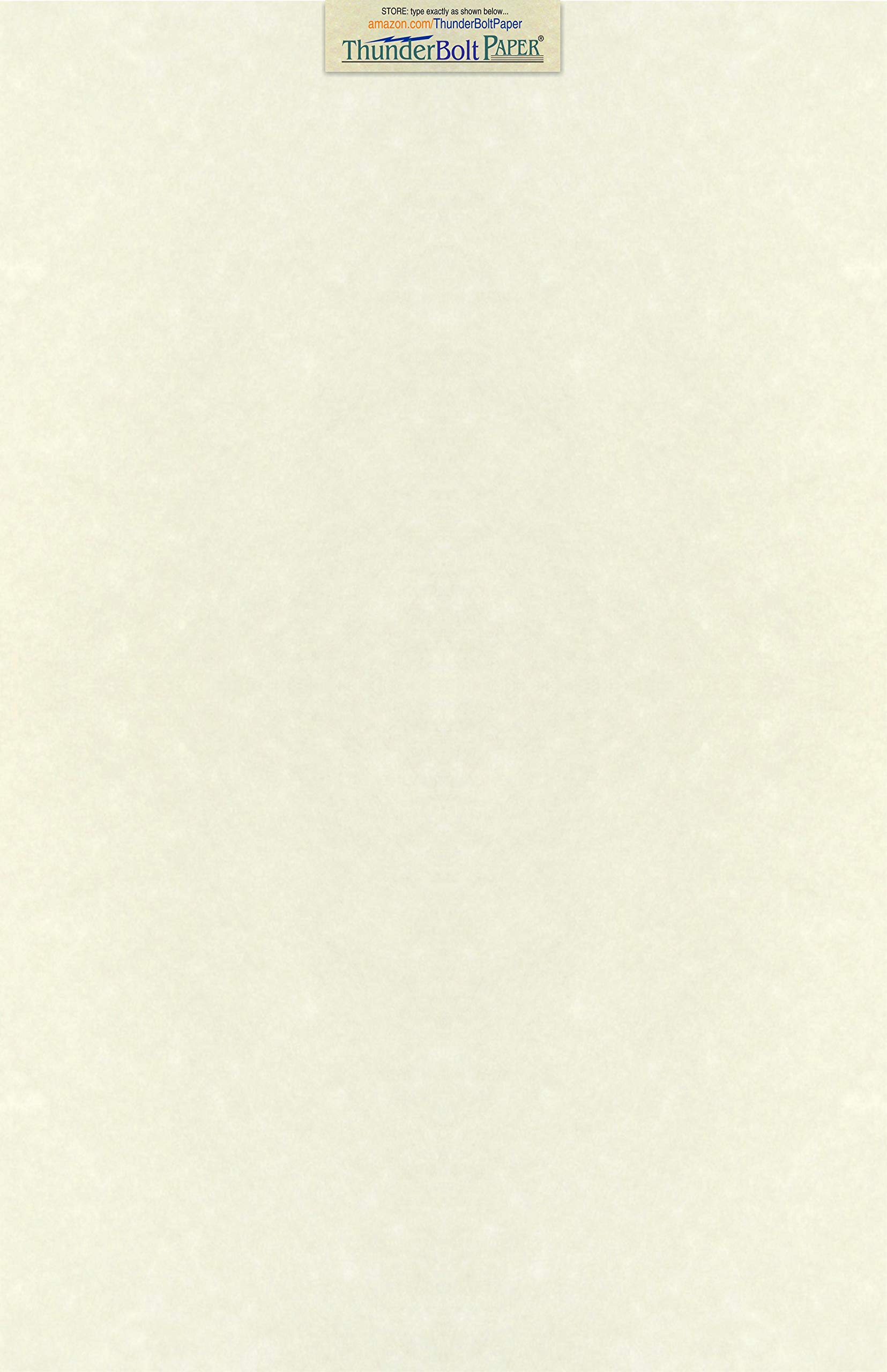 50 Soft White Parchment 60lb Text Weight Paper - 11'' X 17'' (11X17 Inches) Tabloid|Ledger|Booklet Size - 60 Pound is Not Card Weight - Vintage Colored Old Parchment Semblance by ThunderBolt Paper