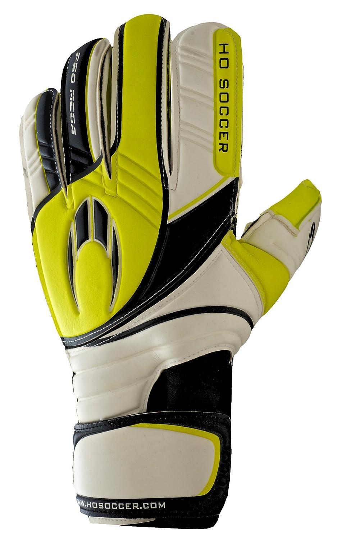 HO Soccer Pro Mega Roll Finger Goalkeeper Gloves Weiß   Lime   schwarz