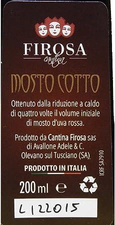 Mosto Cotto Elisir di Vino|Specialità Campana|Colline Salernitane|Bottiglia in Vetro da 500 Ml|Rimedio Naturale