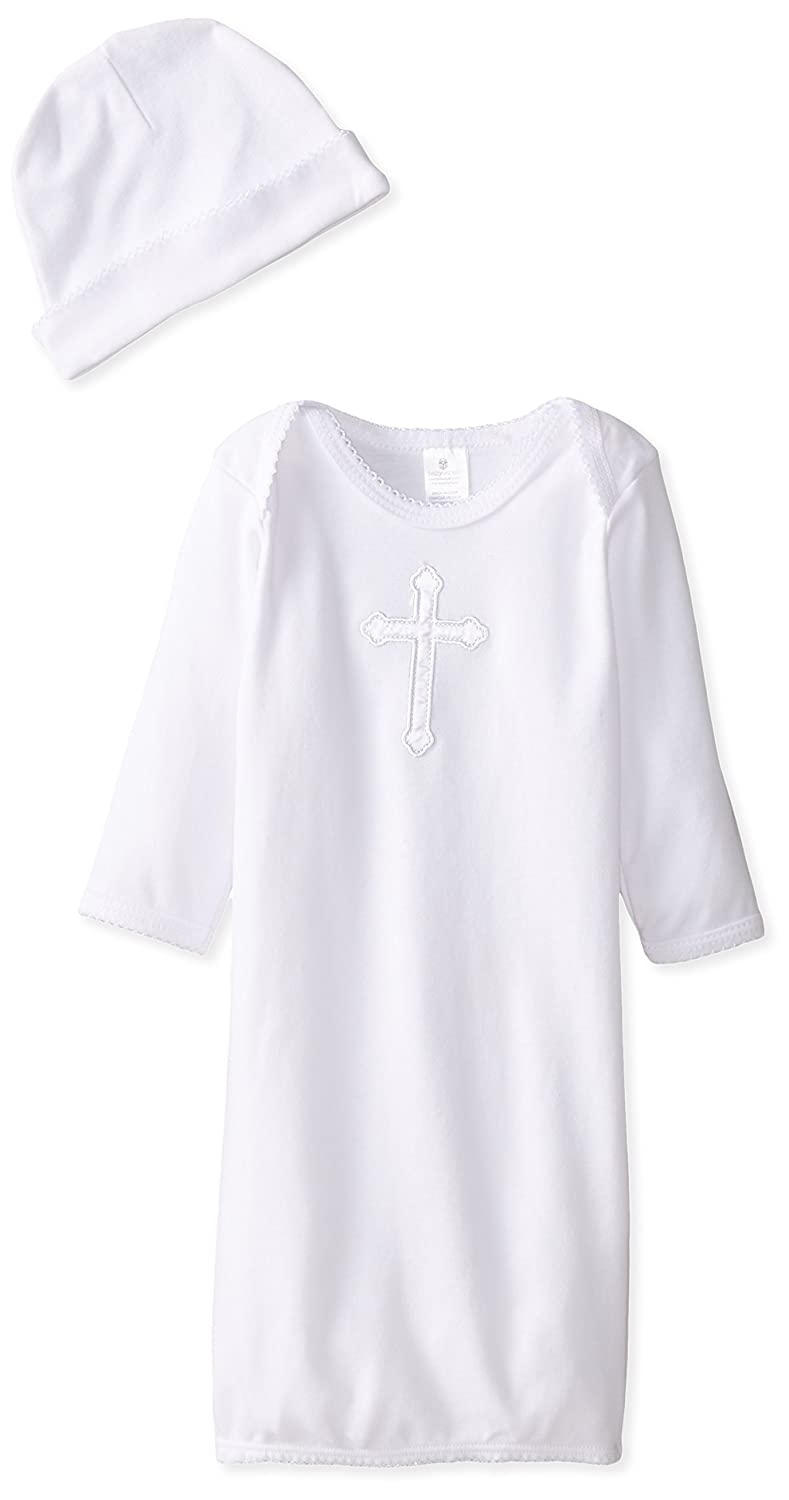 Baby Aspen Unisex-Baby Newborn Baby Blessings Gown and Cap White BA16052NA