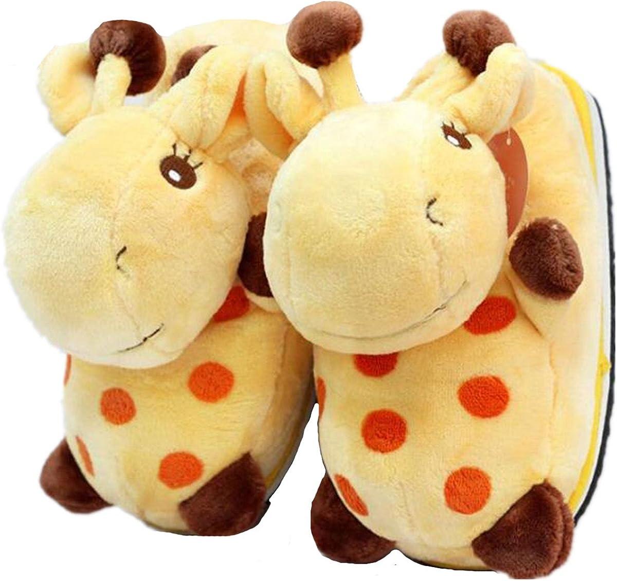 Belle Maison /à Chaud en Hiver la Girafe de Pantoufles Pantoufles de Coton antid/érapante
