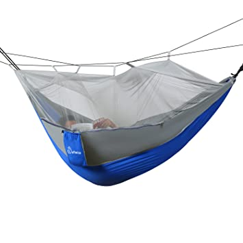 wolfwise mosquito   hammock 2 person portable parachute double camping hammocks kit with carabiners and amazon    wolfwise mosquito   hammock 2 person portable      rh   amazon
