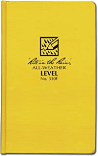 """product image for Rite in the Rain Weatherproof Hard Cover Notebook, 4 3/4"""" x 7 1/2"""", Yellow Cover, Level Pattern (No. 310F)"""