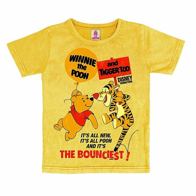 Logoshirt - Camiseta con estampado de Winnie the Pooh con cuello redondo  para niño 754a5f104f3ab